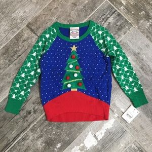 NWT girls' ugly holiday tree sweater, 12 months